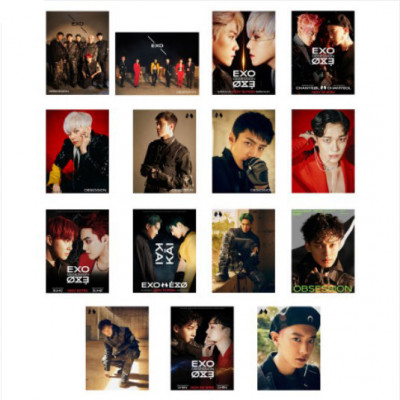 EXO - Wood Frame Photo (Obsession)