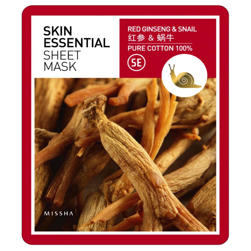 MISSHA Skin Essential Sheet Mask (Ginseng & Snail)