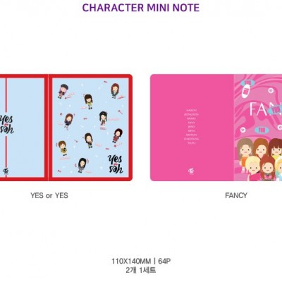 TWICE - Character Mini Note